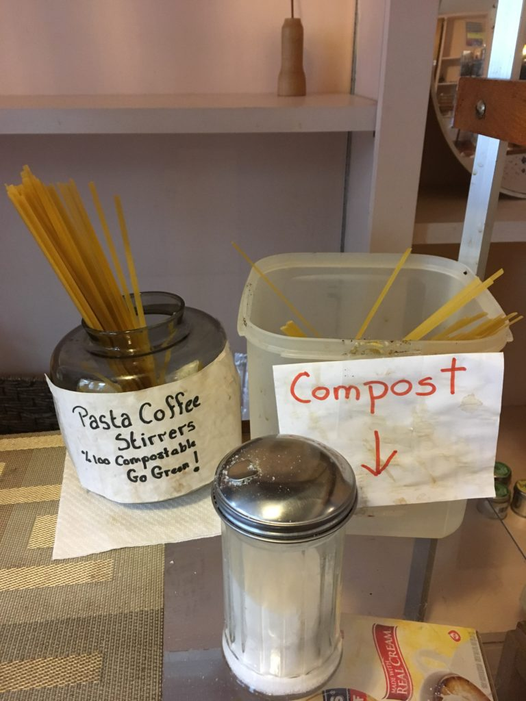 Stirring Coffee With Pasta | Crazy About Compost